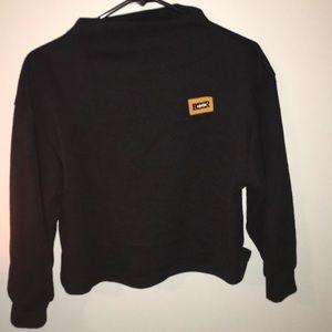 Zaful Cropped Mock Neck Sweatshirt